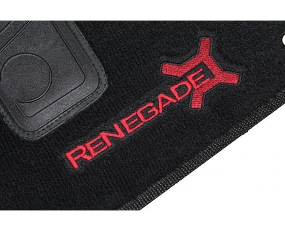Tapete Jeep Renegade Preto/vermelho Luxo (Alfabetoauto) por alfabetoauto.com.br