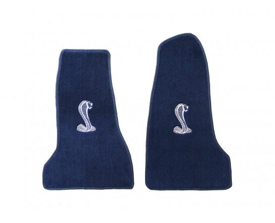 Tapete Mustang Cobra Azul Marinho Luxo (Alfabetoauto) por alfabetoauto.com.br
