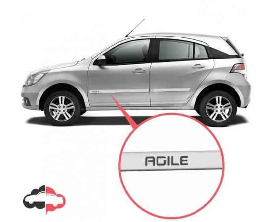 Friso Lateral Personalizado Chevrolet Agile (Alfabetoauto) por alfabetoauto.com.br