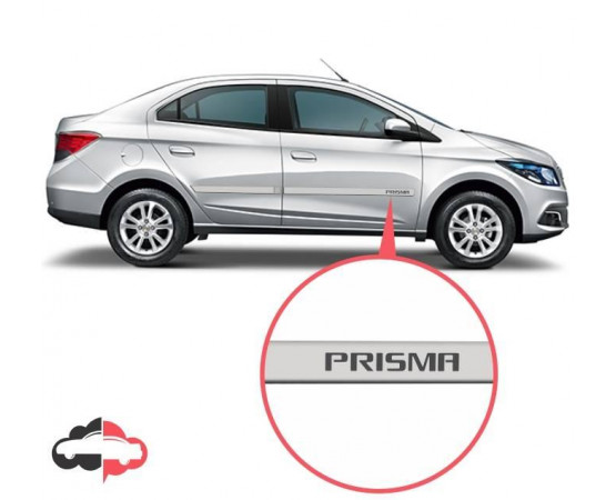 Friso Lateral Personalizado Chevrolet Prisma (Alfabetoauto) por alfabetoauto.com.br
