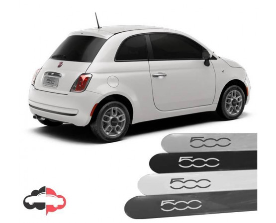 Friso Lateral Personalizado Fiat 500 (Alfabetoauto) por alfabetoauto.com.br