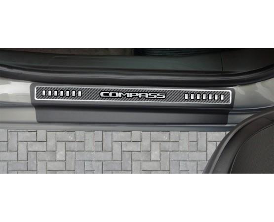 Soleira Premium Carbono 4P Compass (NP Adesivos e Resinagem) por alfabetoauto.com.br