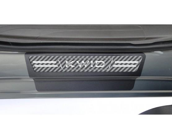 Soleira Premium Renault Carbono 4P Kwid (NP Adesivos e Resinagem) por alfabetoauto.com.br