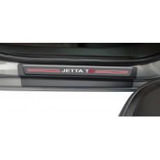 Soleira Premium Vw Carbono 4P Jetta Tsi