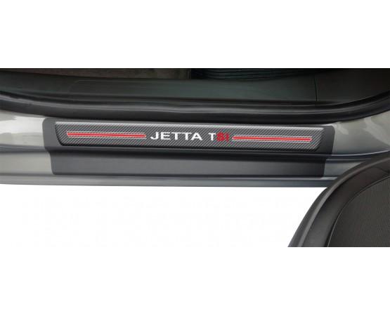 Soleira Premium Vw Carbono 4P Jetta Tsi (NP Adesivos e Resinagem) por alfabetoauto.com.br