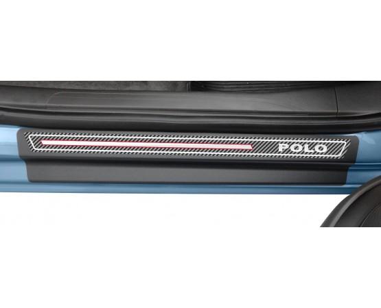 Soleira Premium Vw Carbono 4P Polo 2018 (NP Adesivos e Resinagem) por alfabetoauto.com.br