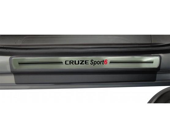 Soleira Premium Aço Escovado 4P Cruze Sport6 (NP Adesivos e Resinagem) por alfabetoauto.com.br