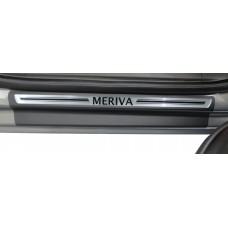 Soleira Premium Aço Escovado 4P Meriva