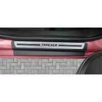 Soleira Premium Aço Escovado 4P Tracker