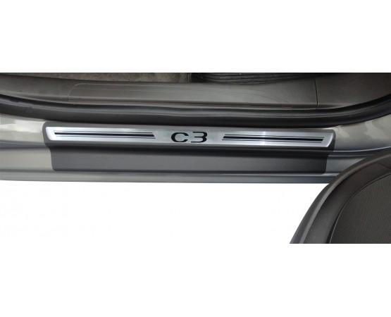 Soleira Premium Aço Escovado 4P C3 Novo