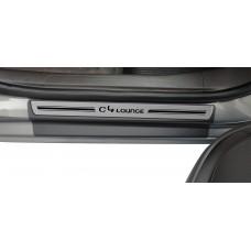 Soleira Premium Citroen Aço Escovado 4P C4 Lounge