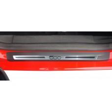 Soleira Premium Aço Escovado 2P Fiat500