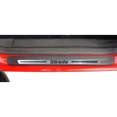 Soleira Premium Aço Escovado 2P Strada