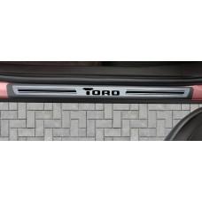 Soleira Premium Aço Escovado 4P Toro
