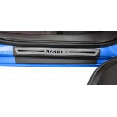 Soleira Premium Aço Escovado 4P Ranger