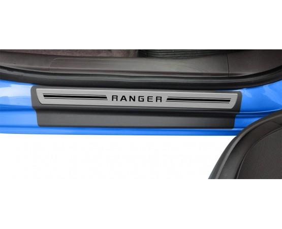 Soleira Premium Aço Escovado 4P Ranger (NP Adesivos e Resinagem) por alfabetoauto.com.br