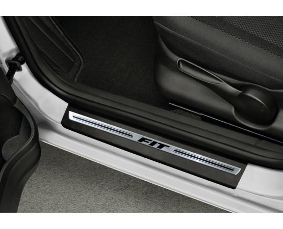 Soleira Premium Aço Escovado 4P Fit