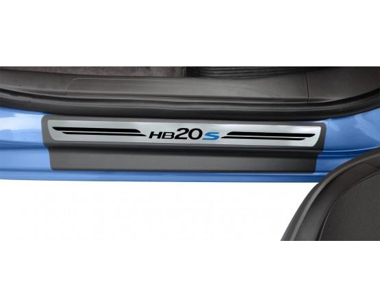 Soleira Premium Aço Escovado 4P Hb20S (NP Adesivos e Resinagem) por alfabetoauto.com.br