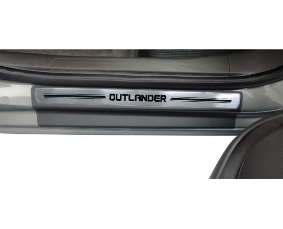 Soleira Premium Mitsubish Aço Escovado 4P Outlander (NP Adesivos e Resinagem) por alfabetoauto.com.br