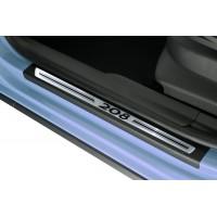 Soleira Premium Aço Escovado 4P 208