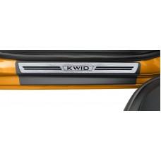 Soleira Premium Renault Aço Escovado 4P Kwid