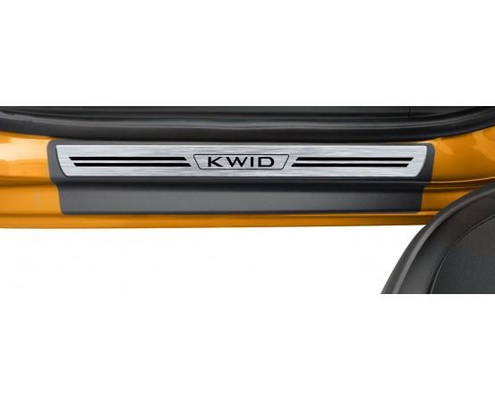 Soleira Premium Renault Aço Escovado 4P Kwid (NP Adesivos e Resinagem) por alfabetoauto.com.br