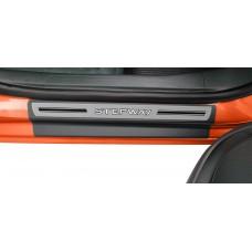 Soleira Premium Renault Aço Escovado 4P Stepway