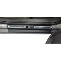 Soleira Premium Aço Escovado 4P Sw4