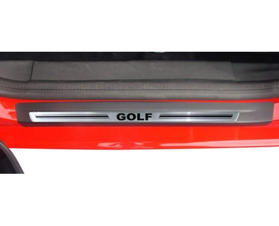 Soleira Premium Aço Escovado 4P Golf (NP Adesivos e Resinagem) por alfabetoauto.com.br