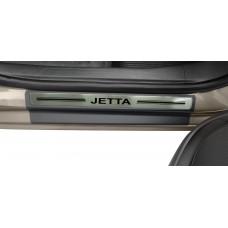 Soleira Premium Aço Escovado 4P Jetta