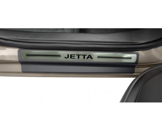 Soleira Premium Aço Escovado 4P Jetta (NP Adesivos e Resinagem) por alfabetoauto.com.br