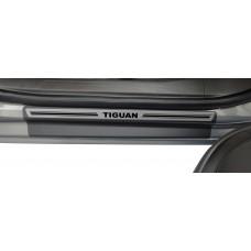 Soleira Premium Aço Escovado 4P Tiguan