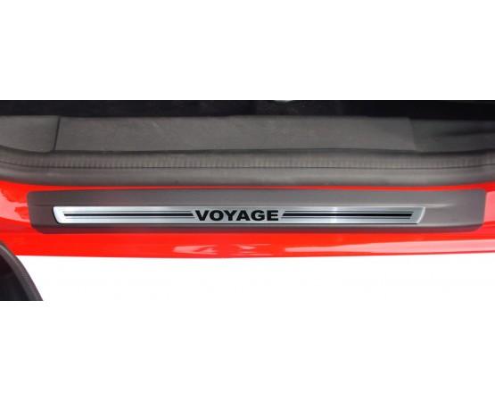 Soleira Premium Aço Escovado 4P Voyage