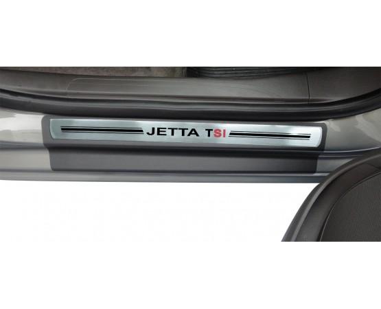 Soleira Premium Vw Aço Escovado 4P Jetta Tsi (NP Adesivos e Resinagem) por alfabetoauto.com.br