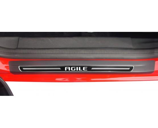 Soleira Premium Elegance2 4P Agile (NP Adesivos e Resinagem) por alfabetoauto.com.br