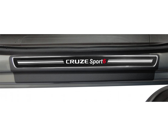 Soleira Premium Elegance2 4P Cruze Sport6 (NP Adesivos e Resinagem) por alfabetoauto.com.br