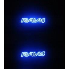 Soleira Aço Inox Led Rav4 2013 em diante Ta-09ra09l