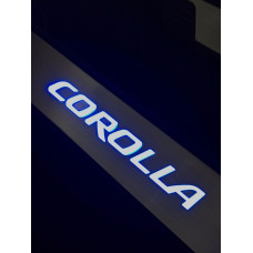 Soleira Aço Inox Led Azul Corolla 2015 - 2018 Ta15co09l