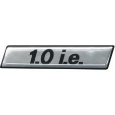 Emblema Adesivo 1.0 I.E. Fiat Uno Mille 95 Cromado