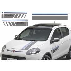 Adesivo faixa decorativa lateral e capô Blue Edition Fiat Palio Sporting 2015