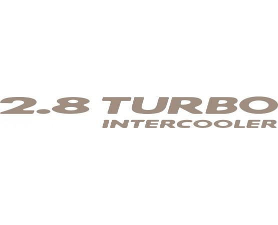 Emblema Adesivo 2.8 Turbo Intercooler Chevrolet S10 e Blazer