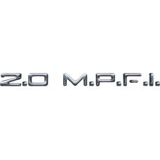 Emblema Adesivo 2.0 M.P.F.I. Chevrolet Vectra Monza Astra e Kadett