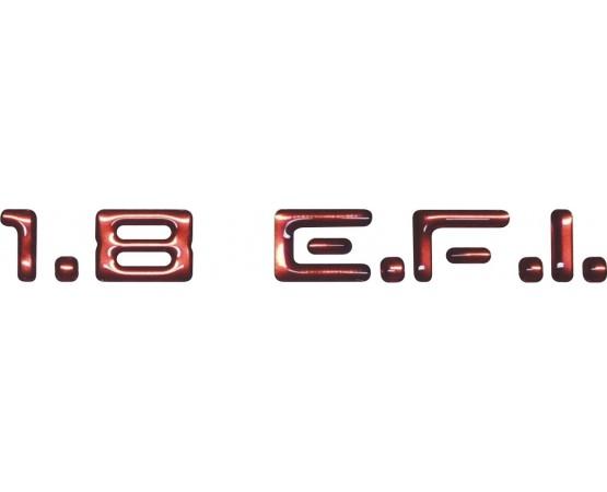 Emblema Adesivo 1.8 E.F.I. Chevrolet Monza e Kadett
