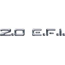 Emblema adesivo 2.0 E.F.I. Chevrolet Vectra Monza Astra e Kadett