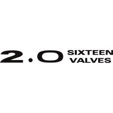 ADESIVO 2.0 SIXTEEN VALVES - PAJERO TR4 16V PRETO S/ RESINA