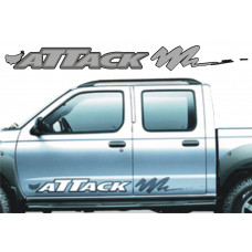 Adesivo Faixa Lateral Decorativa Attack Nissan Frontier 2002 a 2008