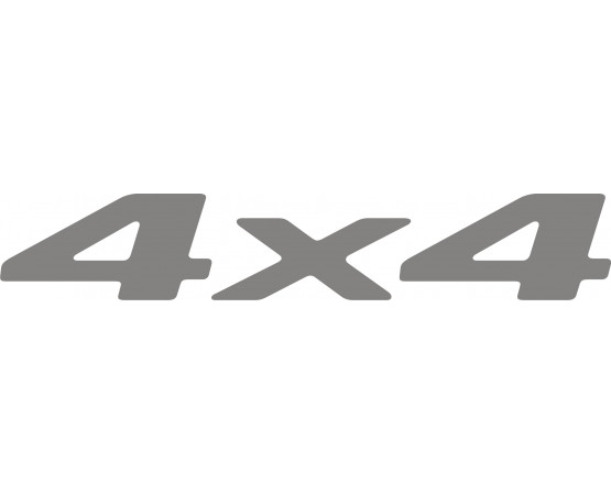 Emblema Adesivo 4X4 Chevrolet Blazer e S10 2006 até 2008