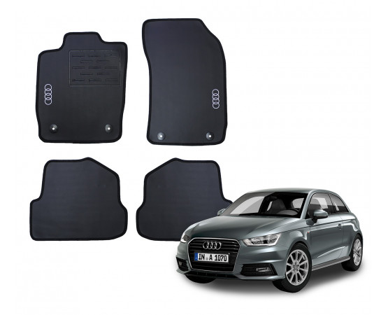 Jogo de Tapetes Audi A1 Borracha