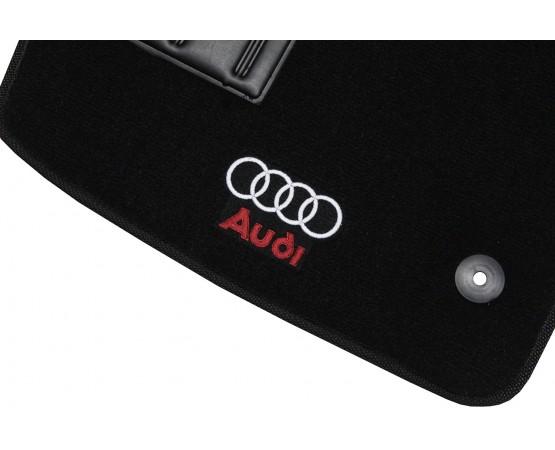 Jogo de Tapetes Audi A4 1996 à 2001 Preto Luxo