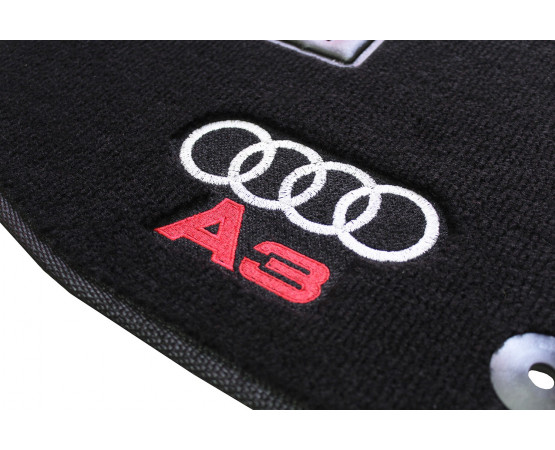 Jogo de Tapetes Audi A3 Sedan Preto Luxo